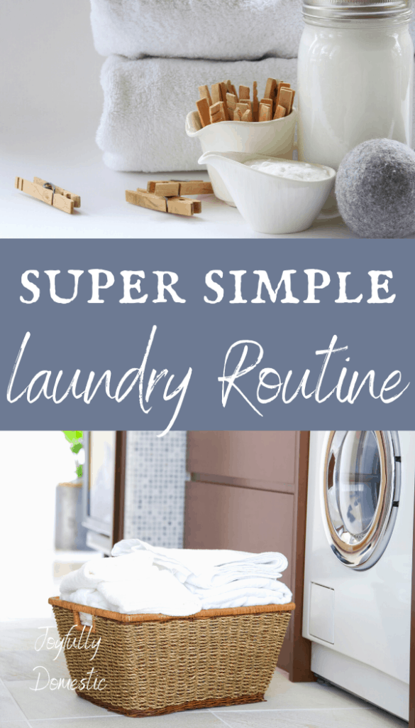 super simple laundry routine
