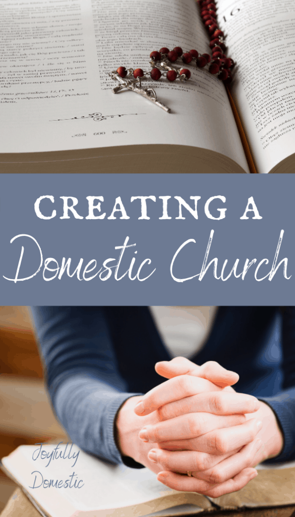praying in a domestic church