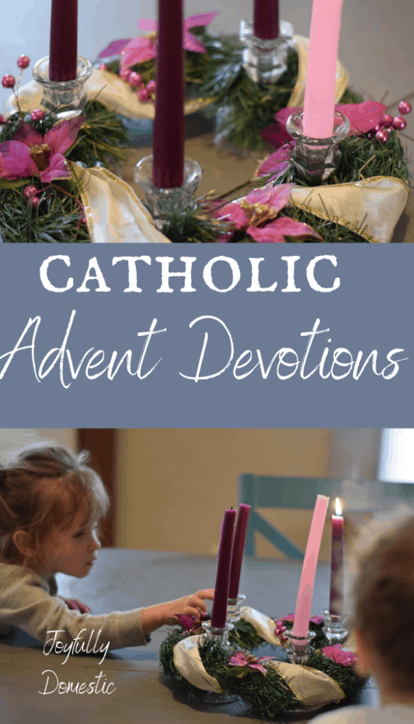 advent wreath with children