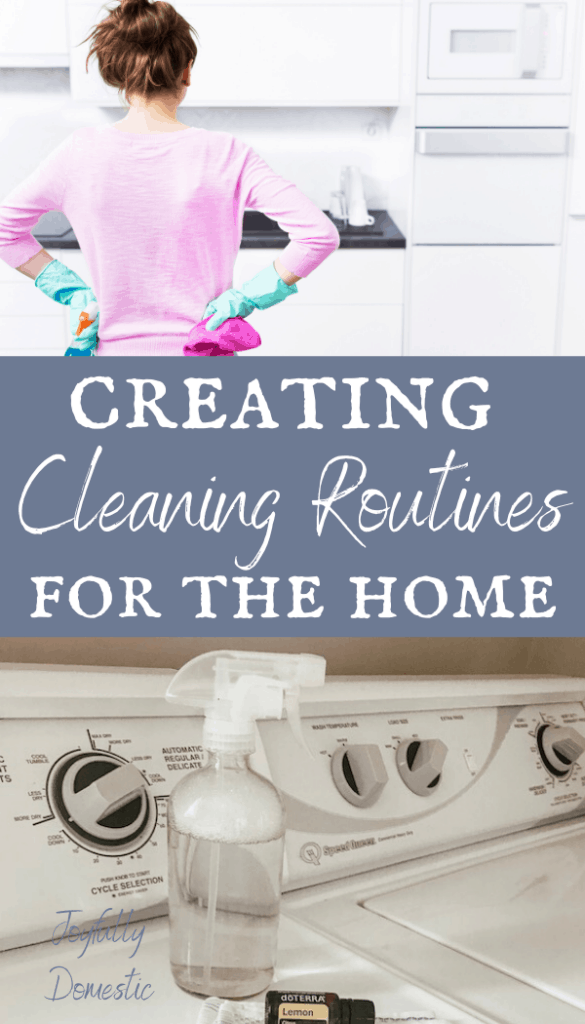 cleaning routines in the home