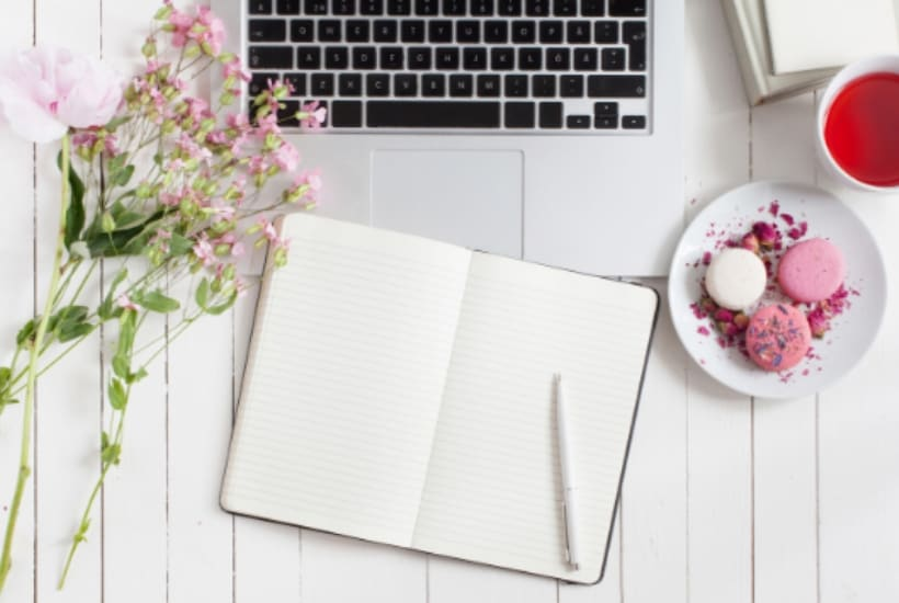 planning using a notebook and laptop