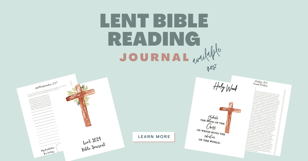 collage of the Bible reading journal on layout