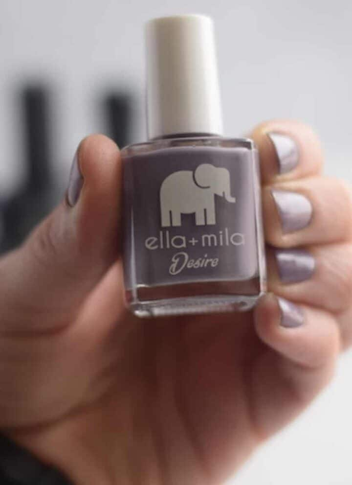 Ella + Mila lavender nail polish bottle