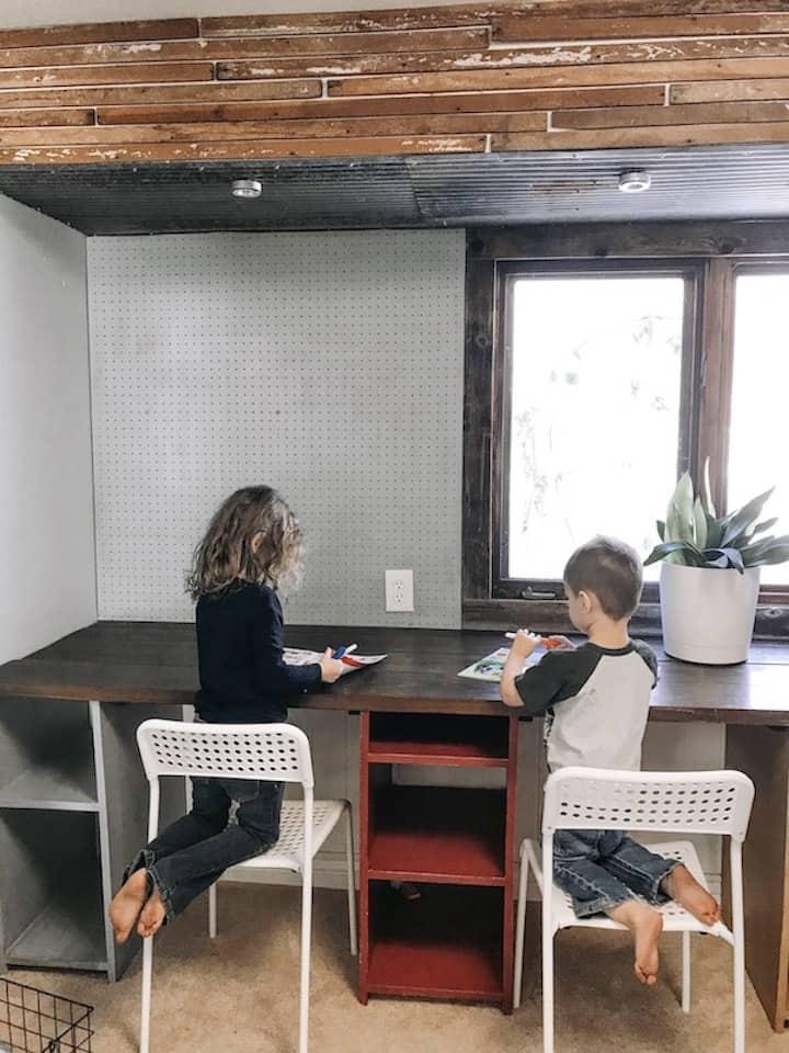 homeschool work area