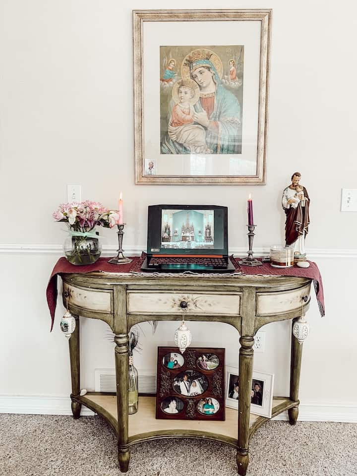 another example of a catholic home altar set up