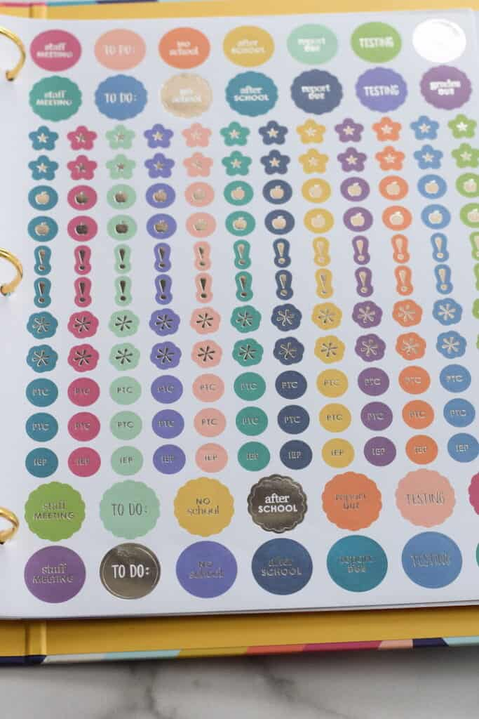 decorative sticker sheet