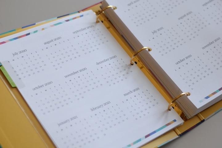 monthly layout in teacher planner