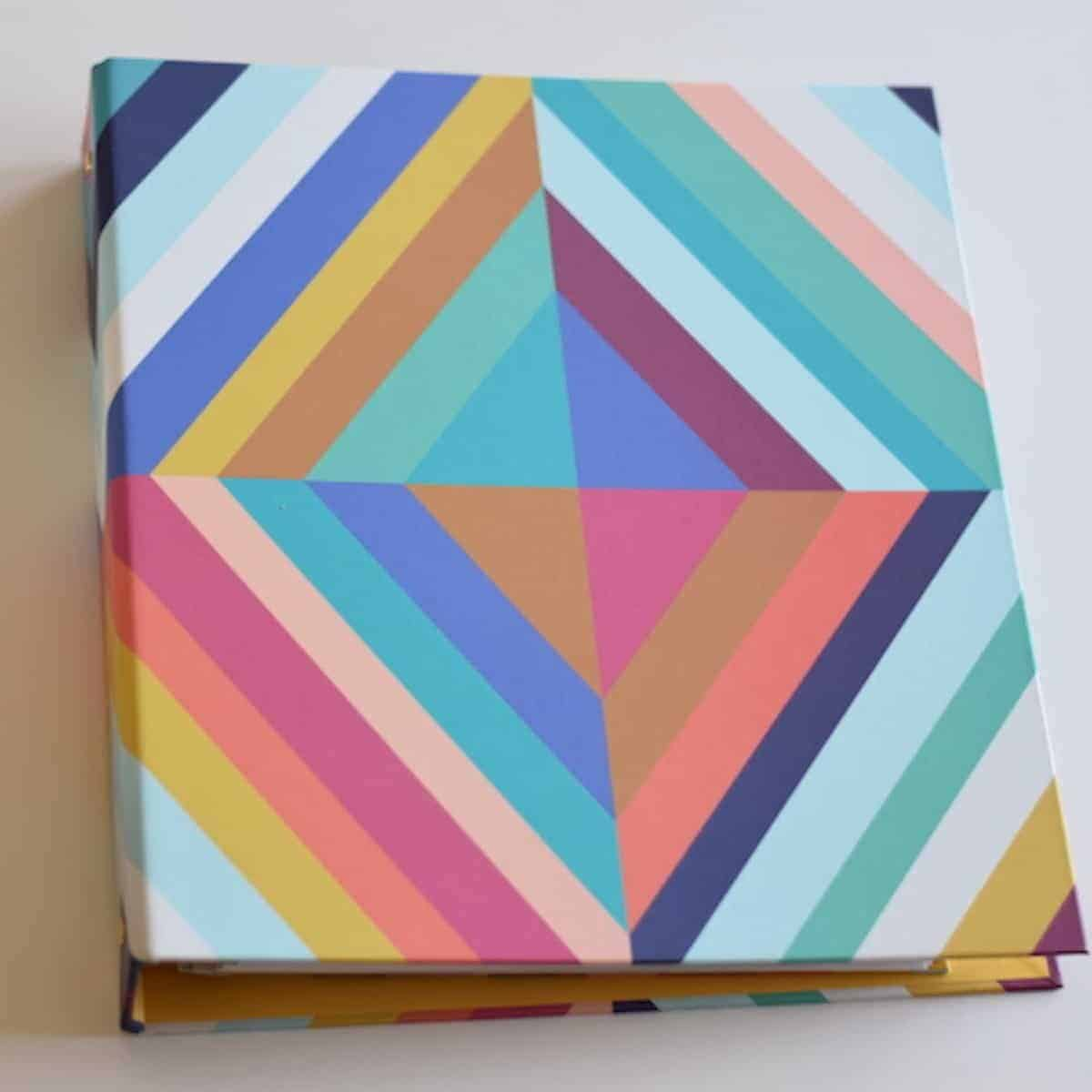 Erin Condren Teacher planner binder in bold colorful stripes