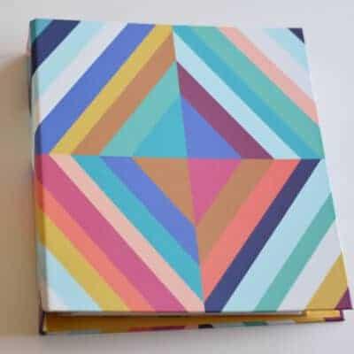 Erin Condren Teacher planner binder in bold colorful stripes