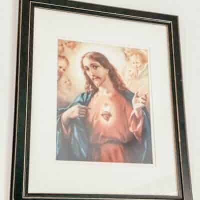 framed image of the Sacred Heart of Jesus