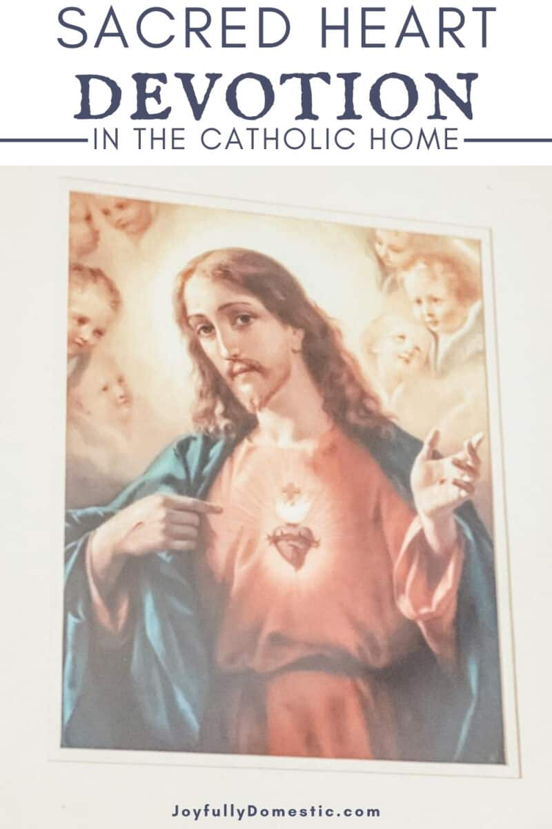 framed art of the Sacred Heart of Jesus