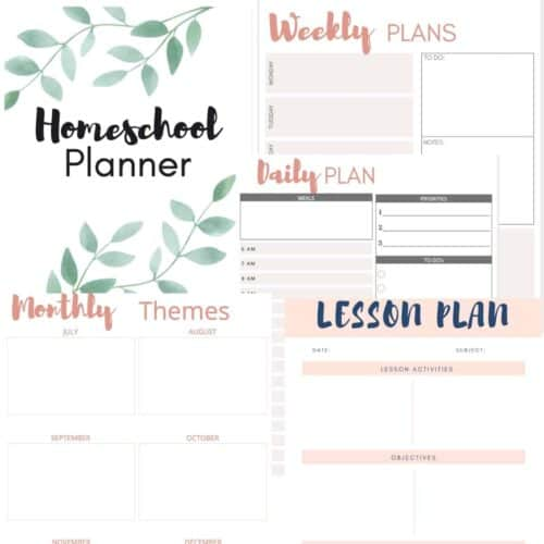 photo collage of planner pages