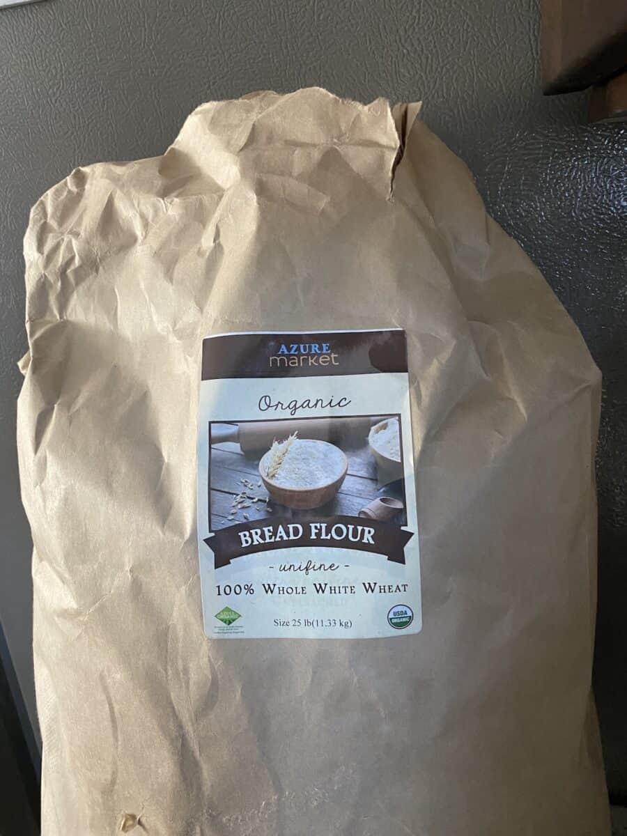 large 25 pound bag of bread flour