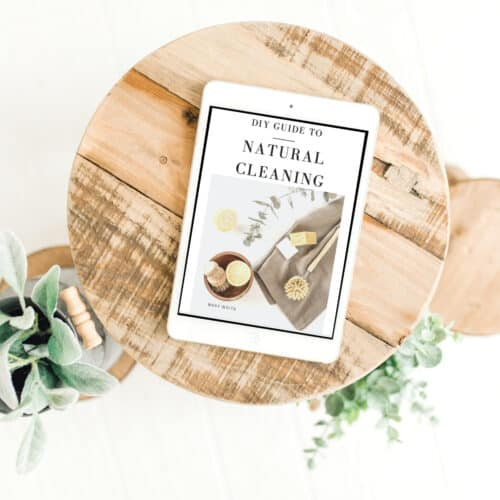 cover image of the natural cleaning ebook on an iMac