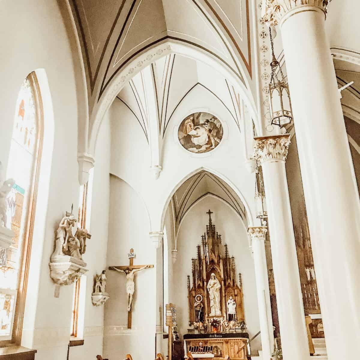 side altar in a Catholic Church