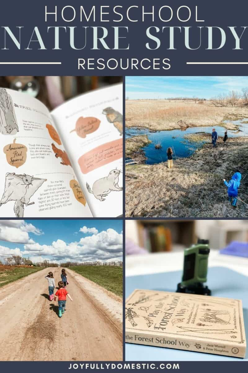 photo collage of nature study books and resources