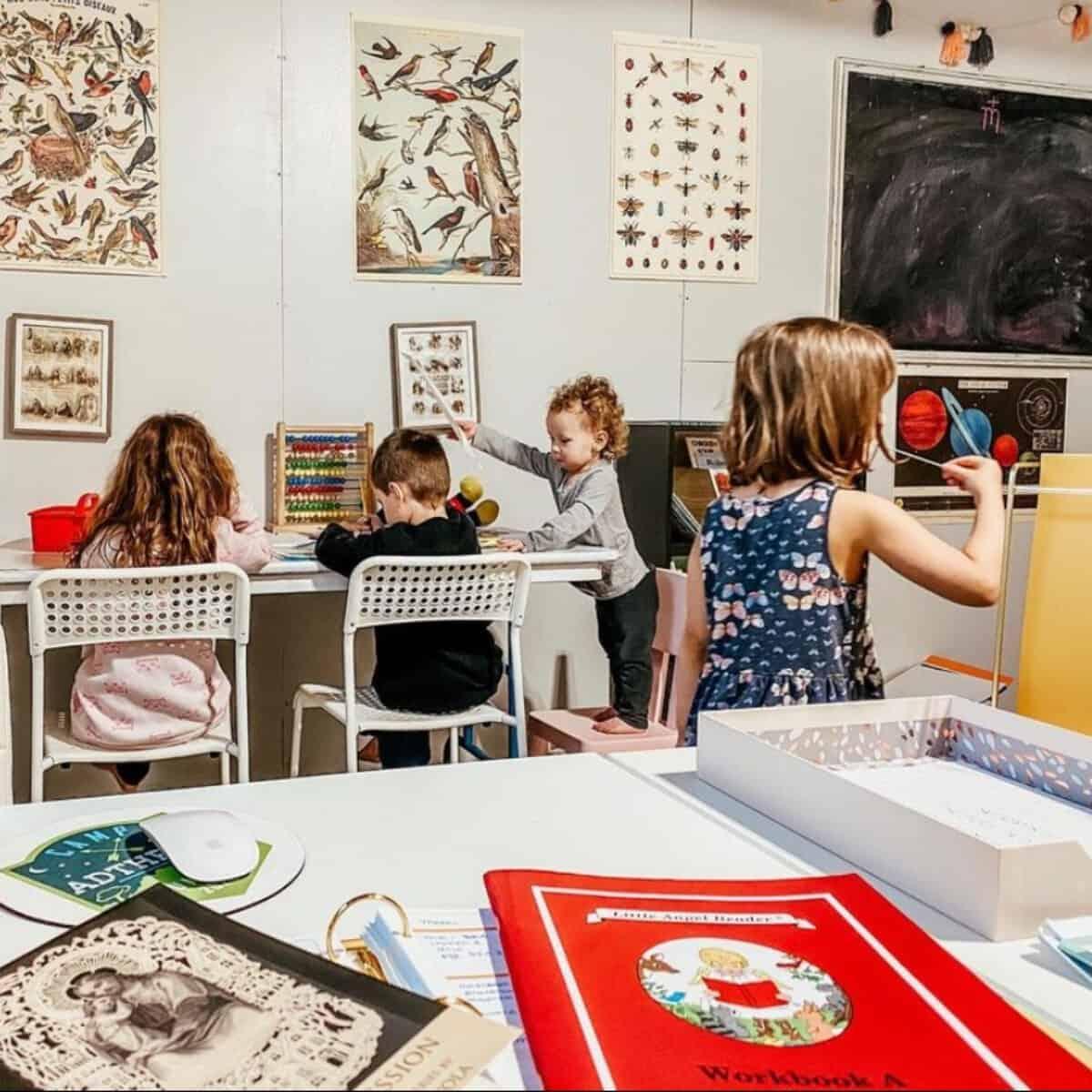 children in the homeschool classroom