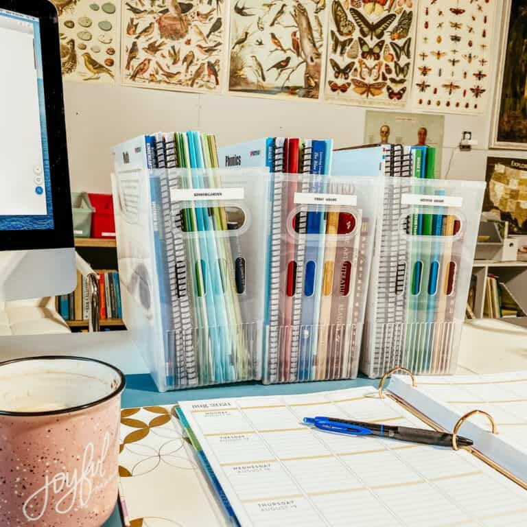 organizing homeschool lesson plans in the classroom
